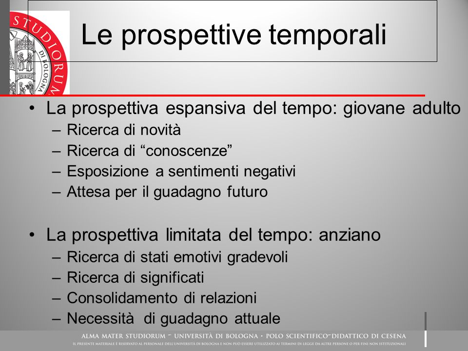 Le prospettive temporali