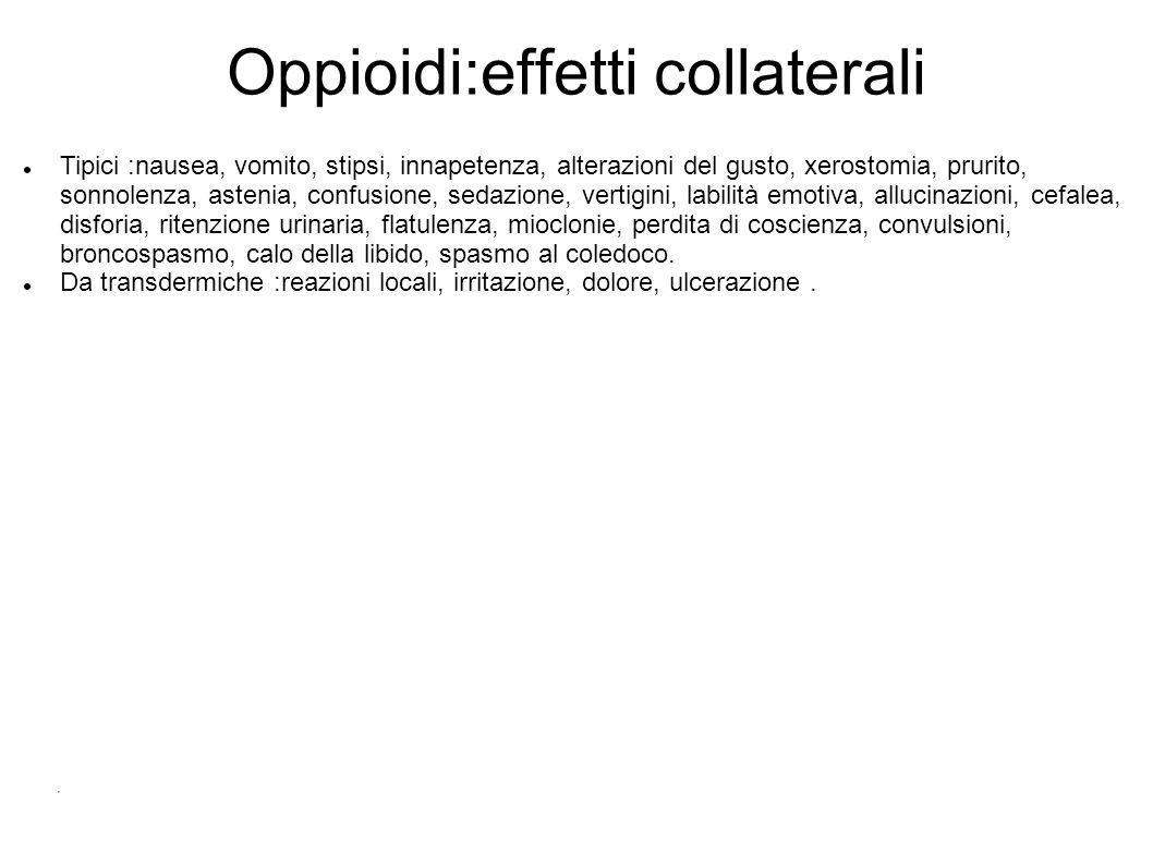 Oppioidi:effetti collaterali