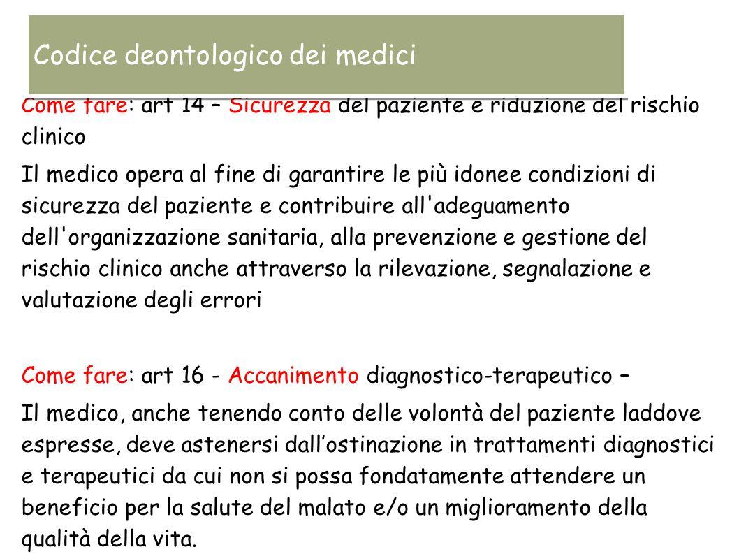 Codice deontologico dei medici