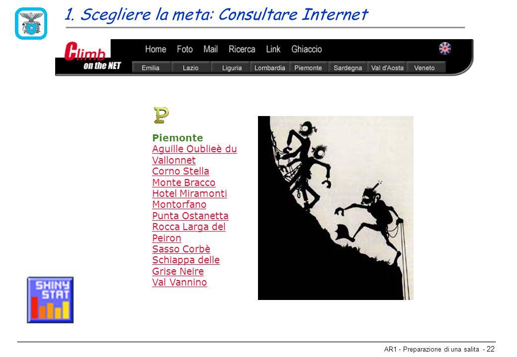 1. Scegliere la meta: Consultare Internet