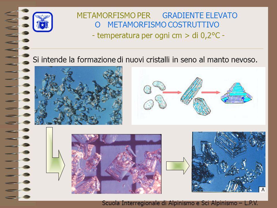 METAMORFISMO PER GRADIENTE ELEVATO O METAMORFISMO COSTRUTTIVO - temperatura per ogni cm > di 0,2°C -