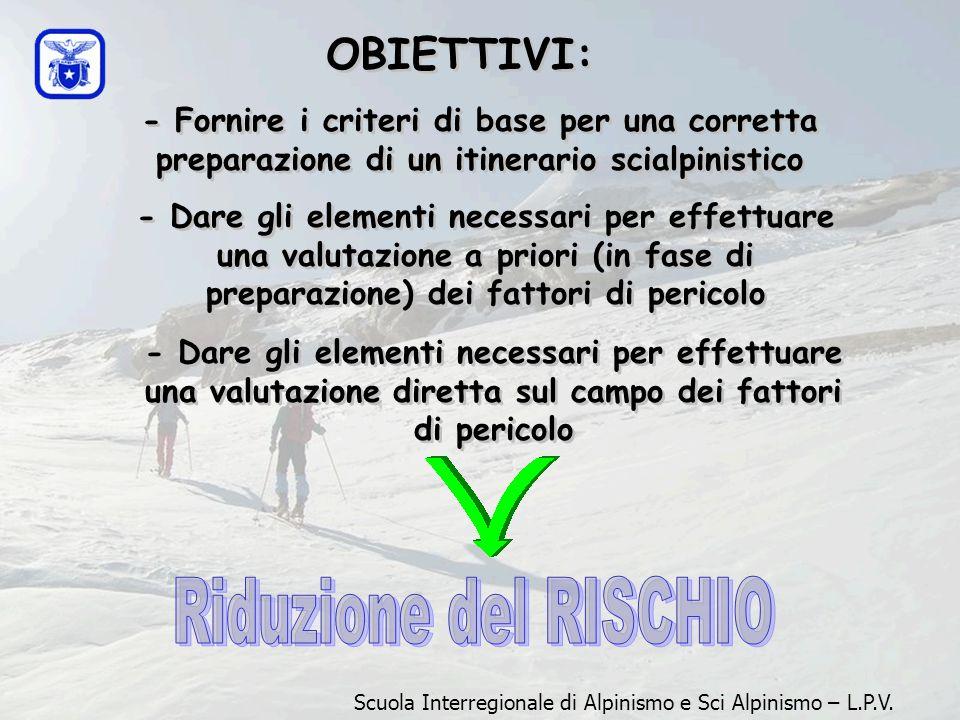 Riduzione del RISCHIO OBIETTIVI: