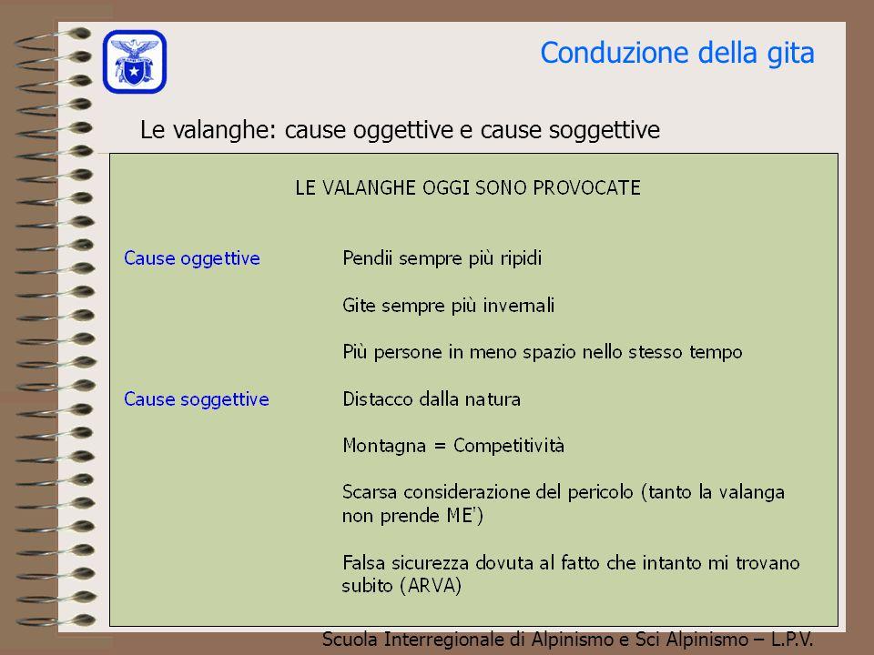 Conduzione della gita Le valanghe: cause oggettive e cause soggettive