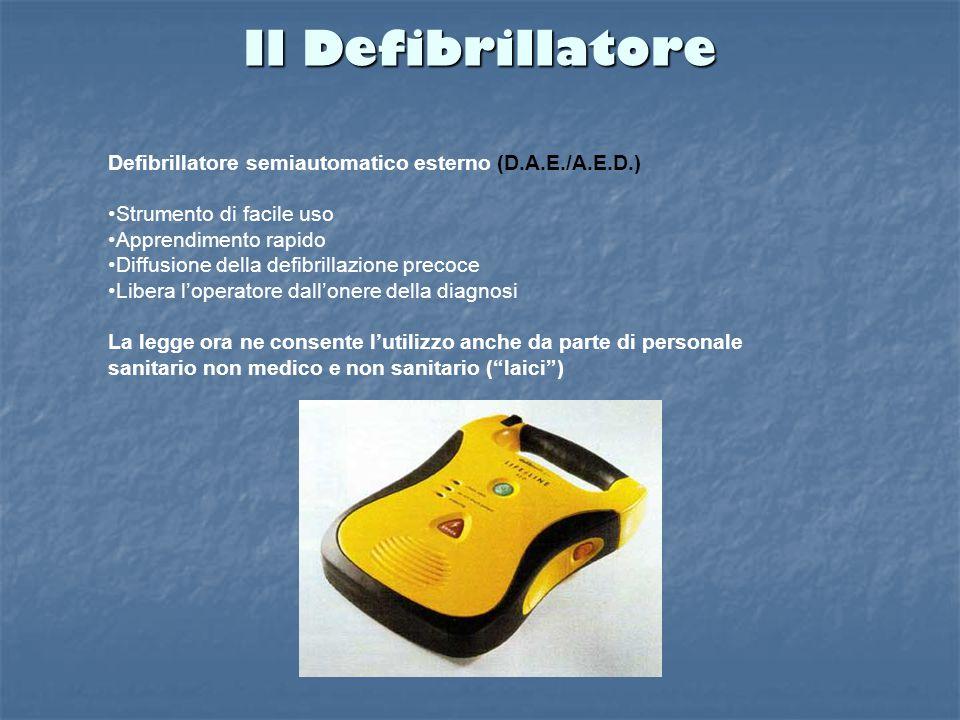 Il Defibrillatore Defibrillatore semiautomatico esterno (D.A.E./A.E.D.) Strumento di facile uso. Apprendimento rapido.