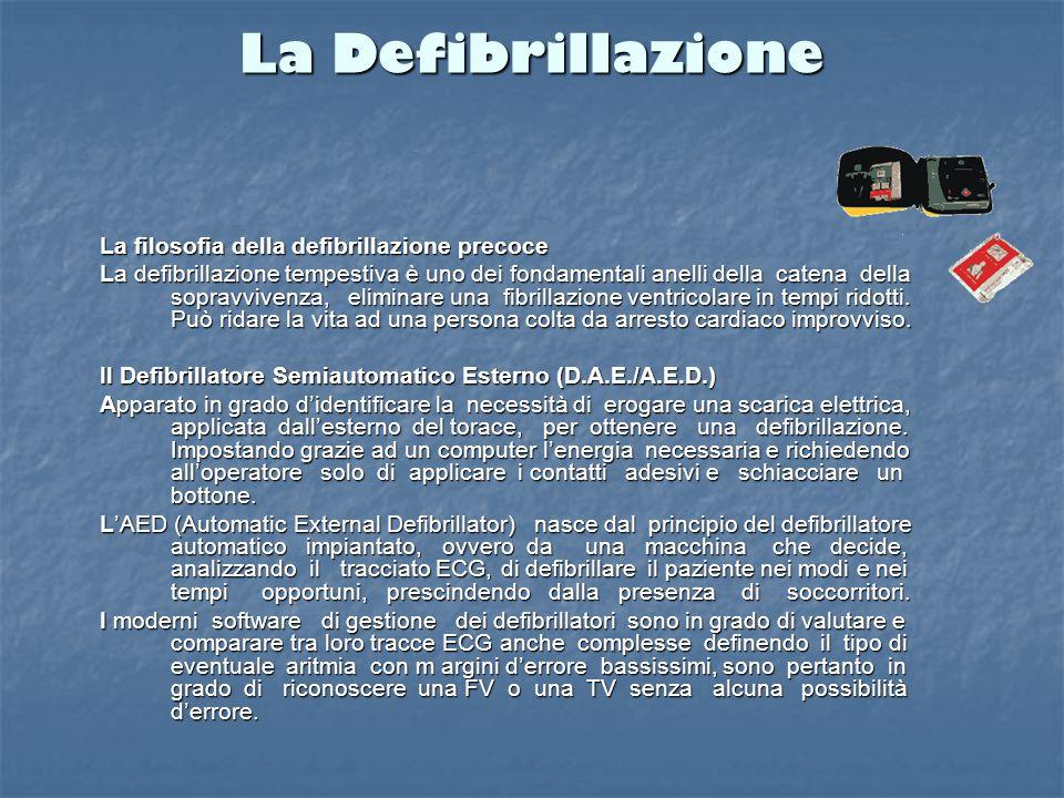 La Defibrillazione La filosofia della defibrillazione precoce