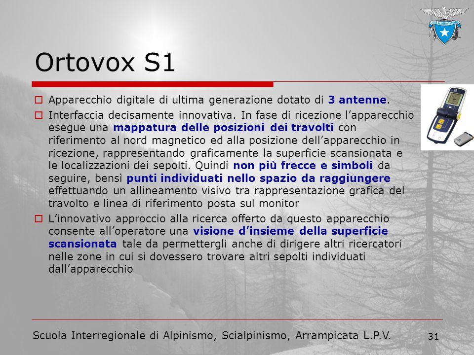Ortovox S1 Apparecchio digitale di ultima generazione dotato di 3 antenne.