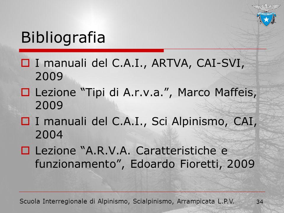 Bibliografia I manuali del C.A.I., ARTVA, CAI-SVI, 2009