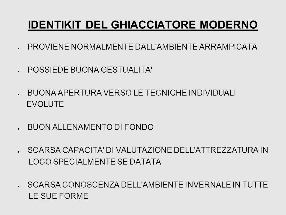 IDENTIKIT DEL GHIACCIATORE MODERNO