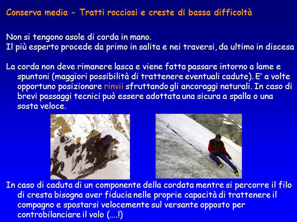 Conserva media - Tratti rocciosi e creste di bassa difficoltà
