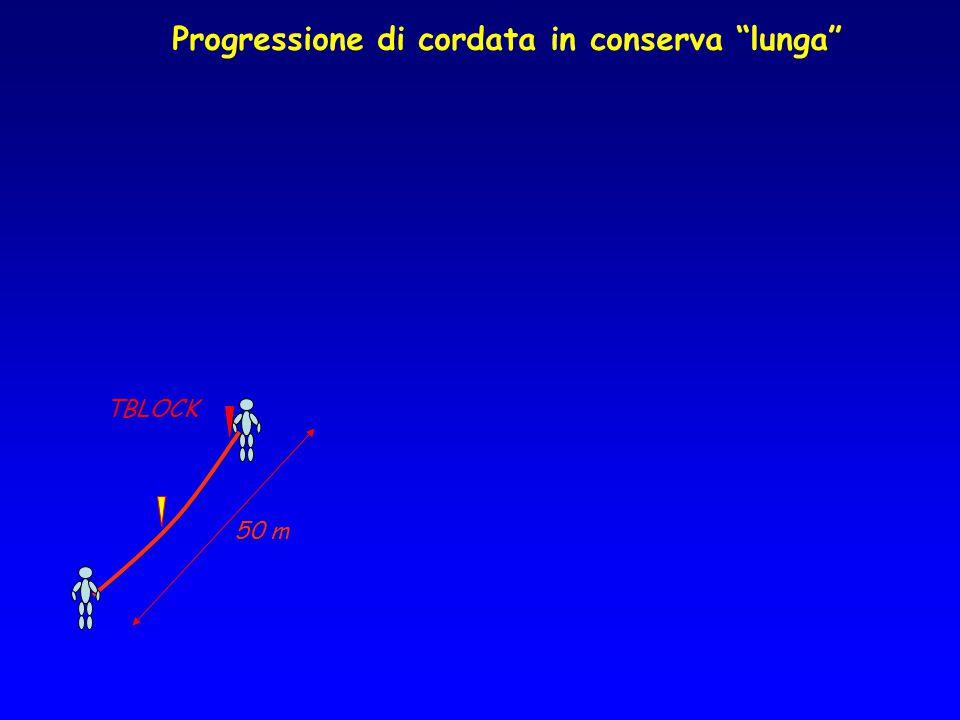 Progressione di cordata in conserva lunga