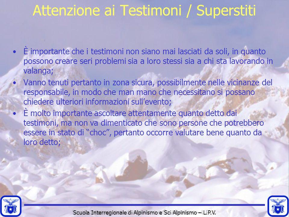 Attenzione ai Testimoni / Superstiti