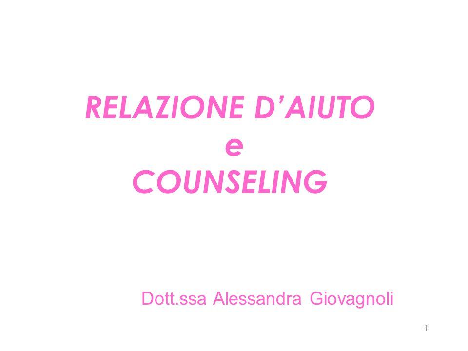 RELAZIONE D'AIUTO e COUNSELING
