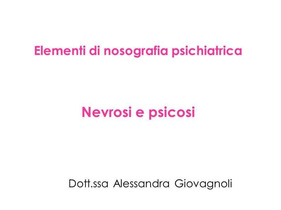Elementi di nosografia psichiatrica