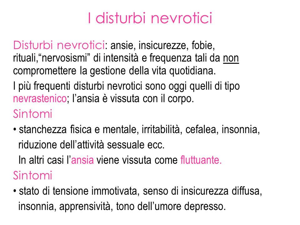 I disturbi nevrotici
