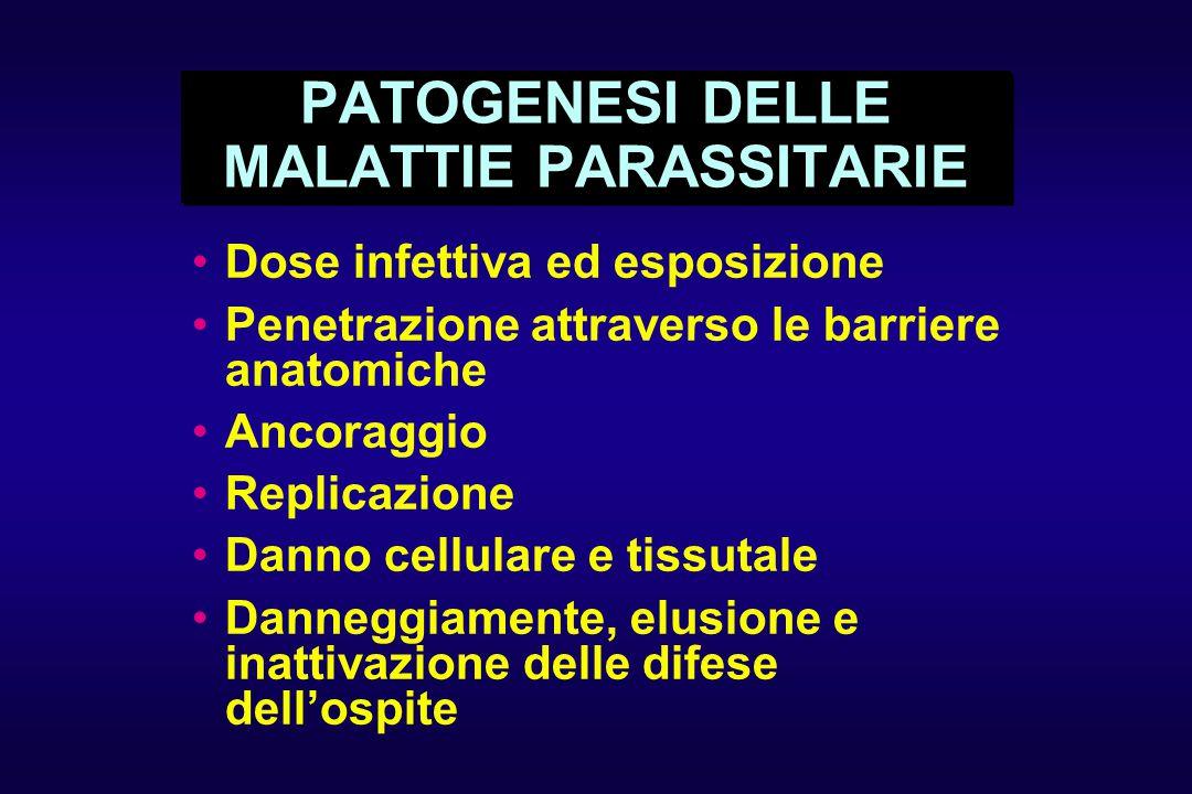 PATOGENESI DELLE MALATTIE PARASSITARIE