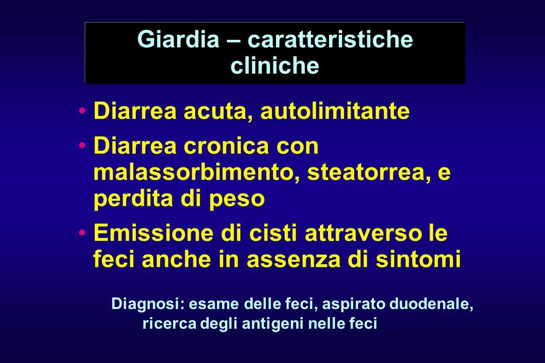 Giardia – caratteristiche cliniche