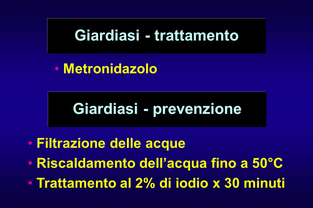 Giardiasi - trattamento