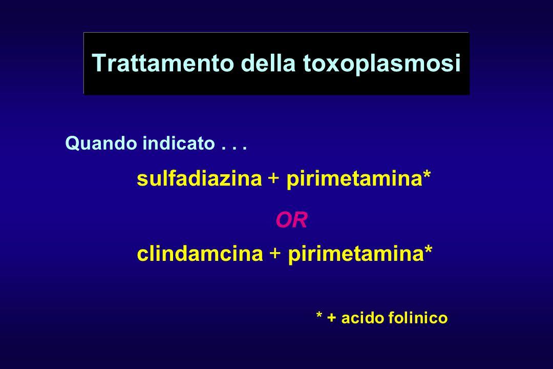 Trattamento della toxoplasmosi