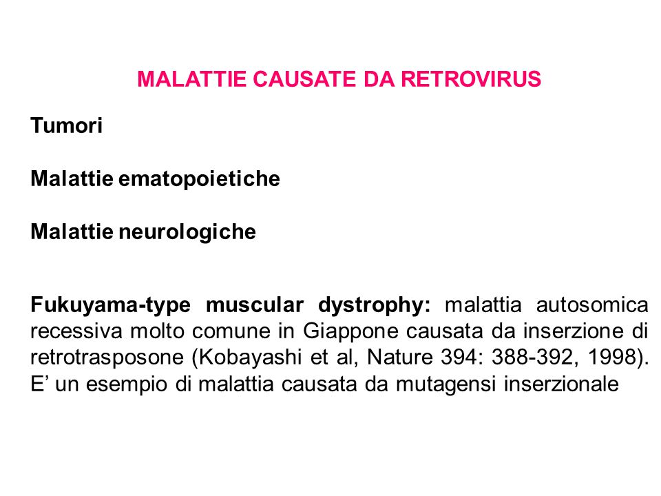 MALATTIE CAUSATE DA RETROVIRUS