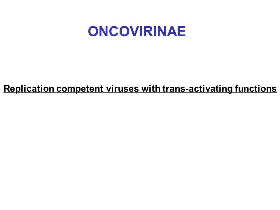 Replication competent viruses with trans-activating functions