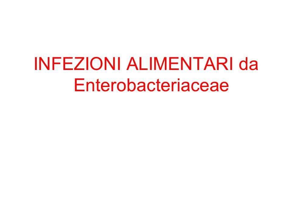 INFEZIONI ALIMENTARI da Enterobacteriaceae