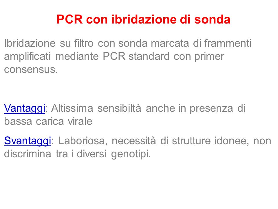 PCR con ibridazione di sonda