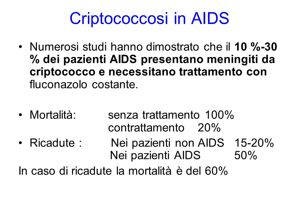 Criptococcosi in AIDS