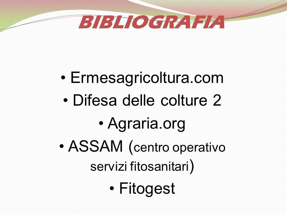 BIBLIOGRAFIA • Ermesagricoltura.com • Difesa delle colture 2