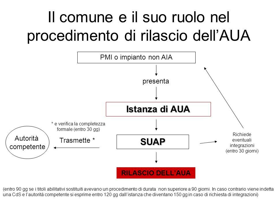 Il comune e il suo ruolo nel procedimento di rilascio dell'AUA