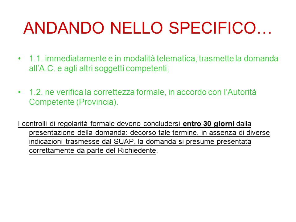 ANDANDO NELLO SPECIFICO…