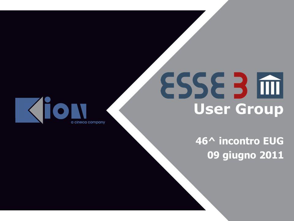User Group Agenda del 43^ EUG 46^ incontro EUG 09 giugno 2011
