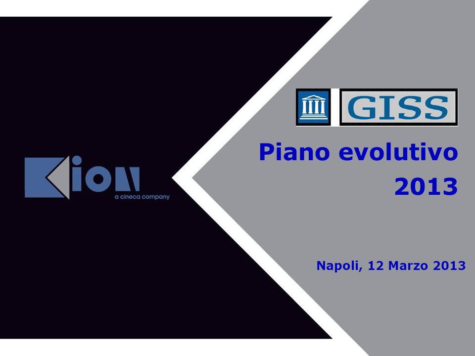 Piano evolutivo 2013 Napoli, 12 Marzo 2013