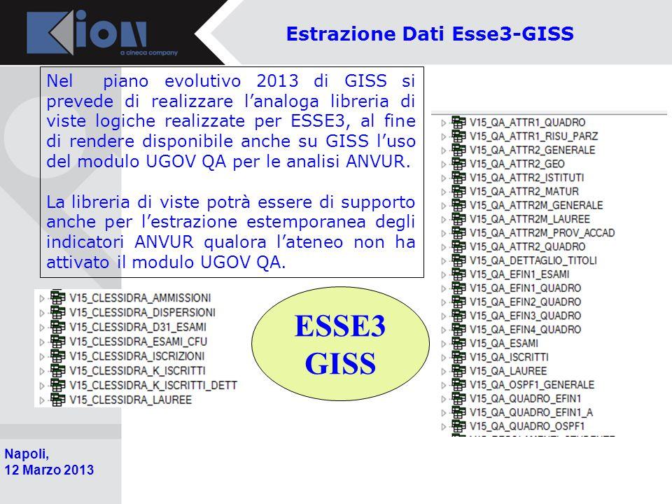Estrazione Dati Esse3-GISS