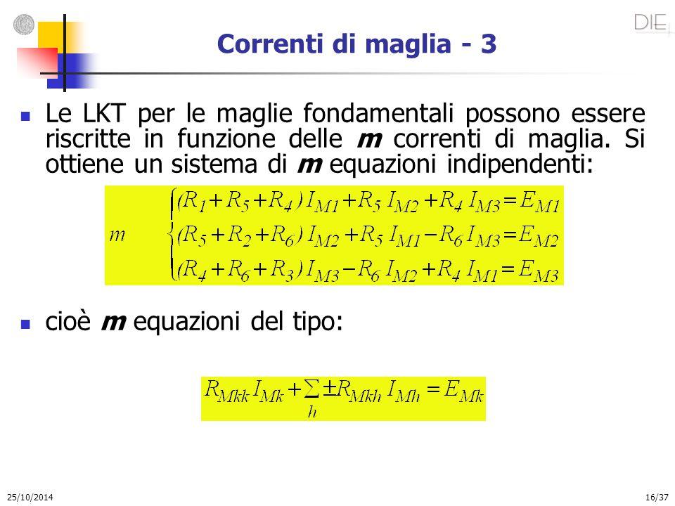 cioè m equazioni del tipo: