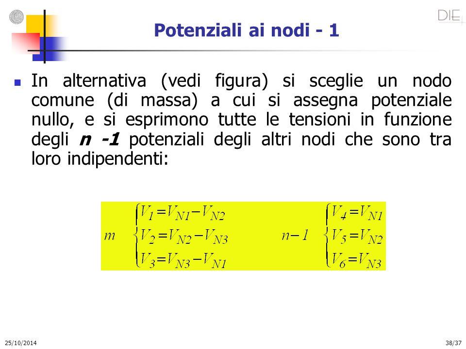 Potenziali ai nodi - 1