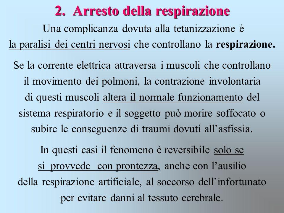 2. Arresto della respirazione