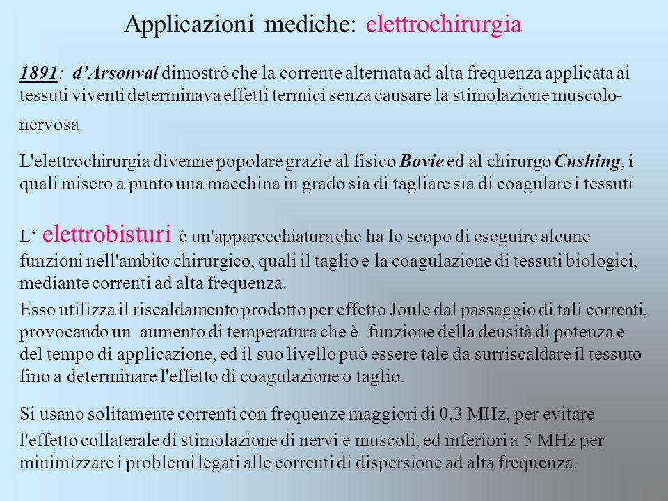Applicazioni mediche: elettrochirurgia