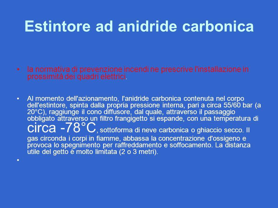 Estintore ad anidride carbonica