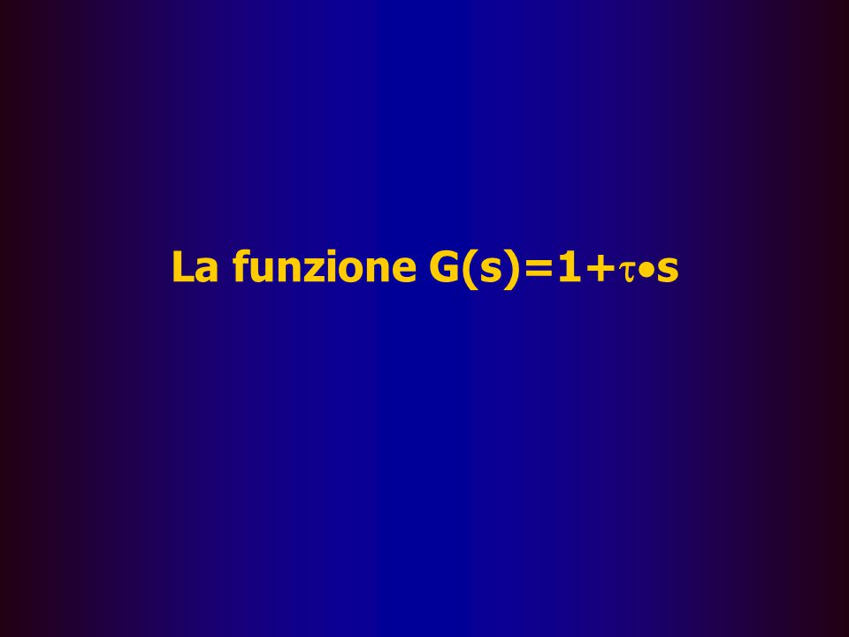 La funzione G(s)=1+ts