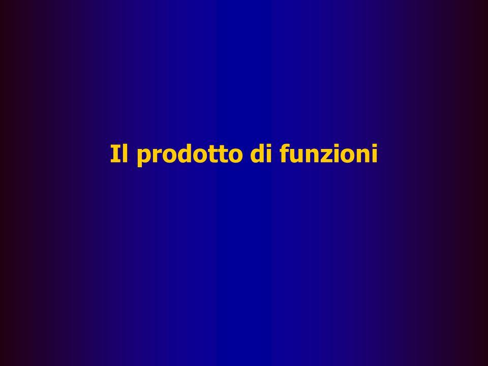 Il prodotto di funzioni