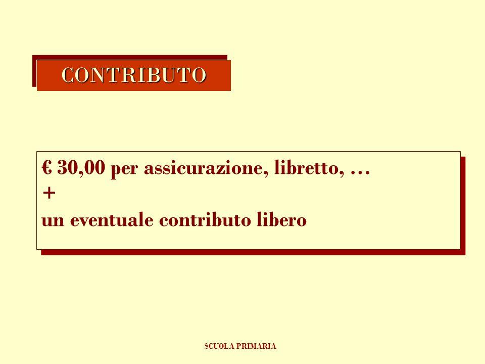 € 30,00 per assicurazione, libretto, … +