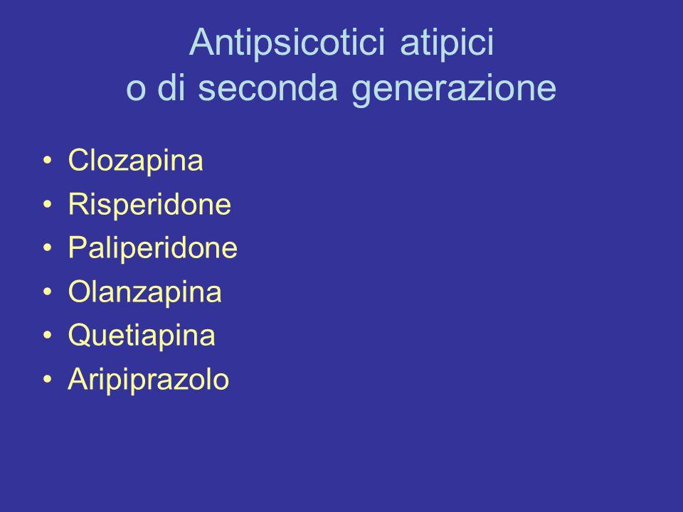Antipsicotici atipici o di seconda generazione