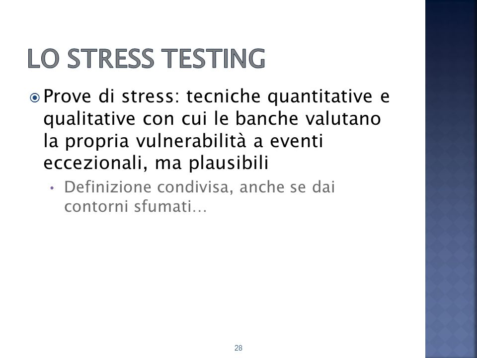 Lo stress testing