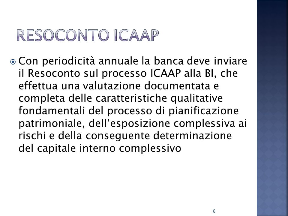 Resoconto ICAAP