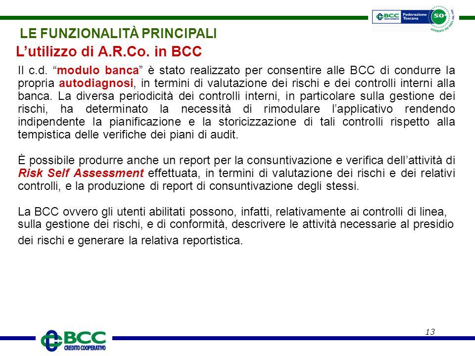 L'utilizzo di A.R.Co. in BCC