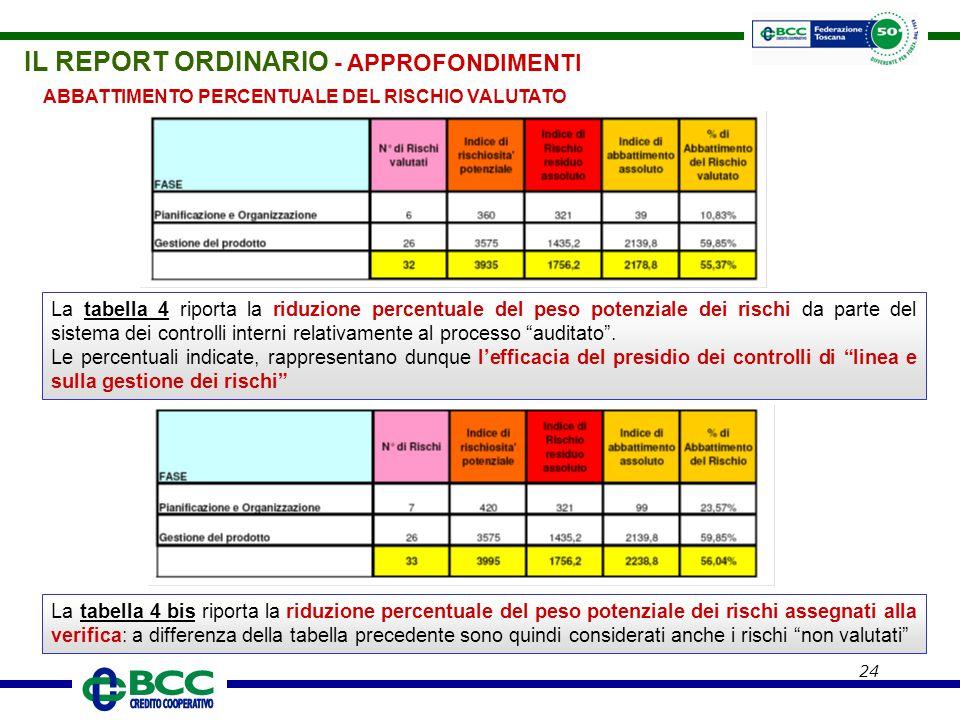 IL REPORT ORDINARIO - APPROFONDIMENTI