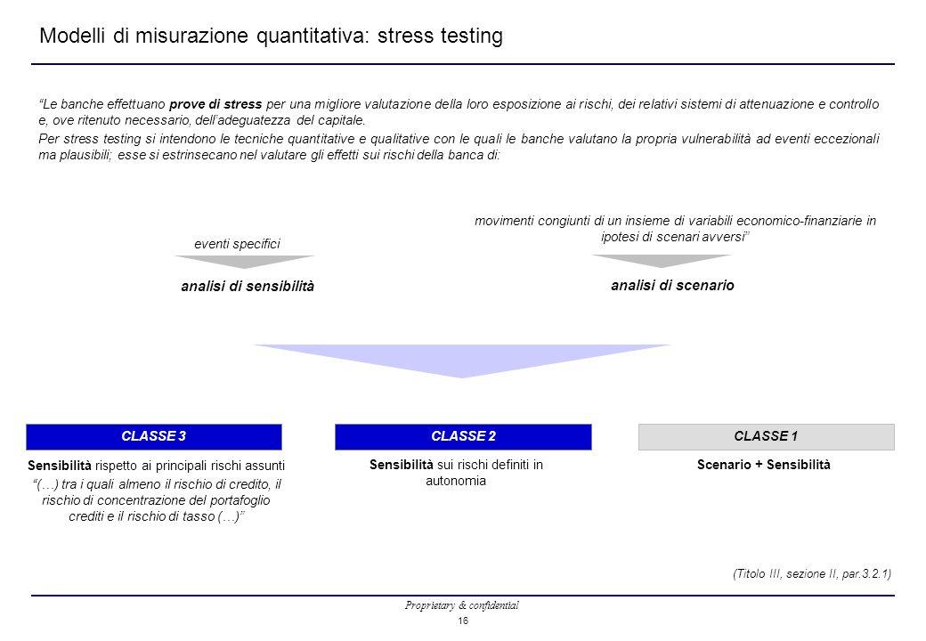 Modelli di misurazione quantitativa: stress testing