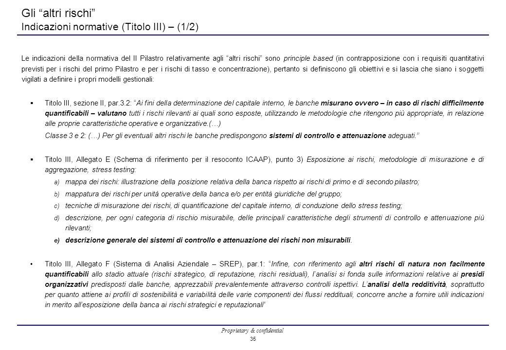 Gli altri rischi Indicazioni normative (Titolo III) – (1/2)