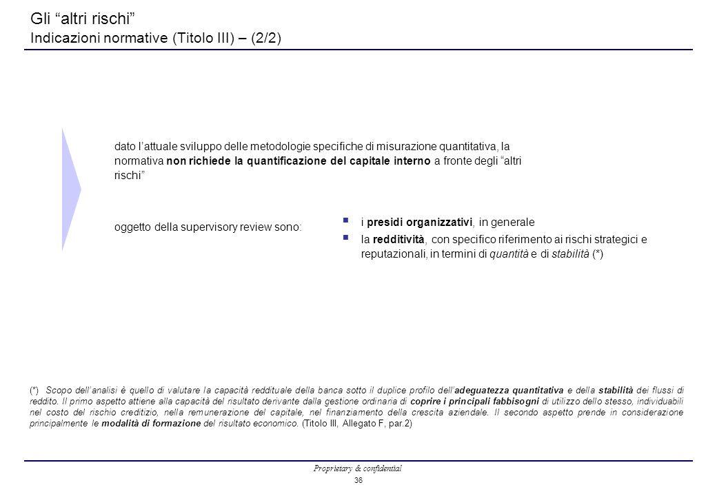 Gli altri rischi Indicazioni normative (Titolo III) – (2/2)