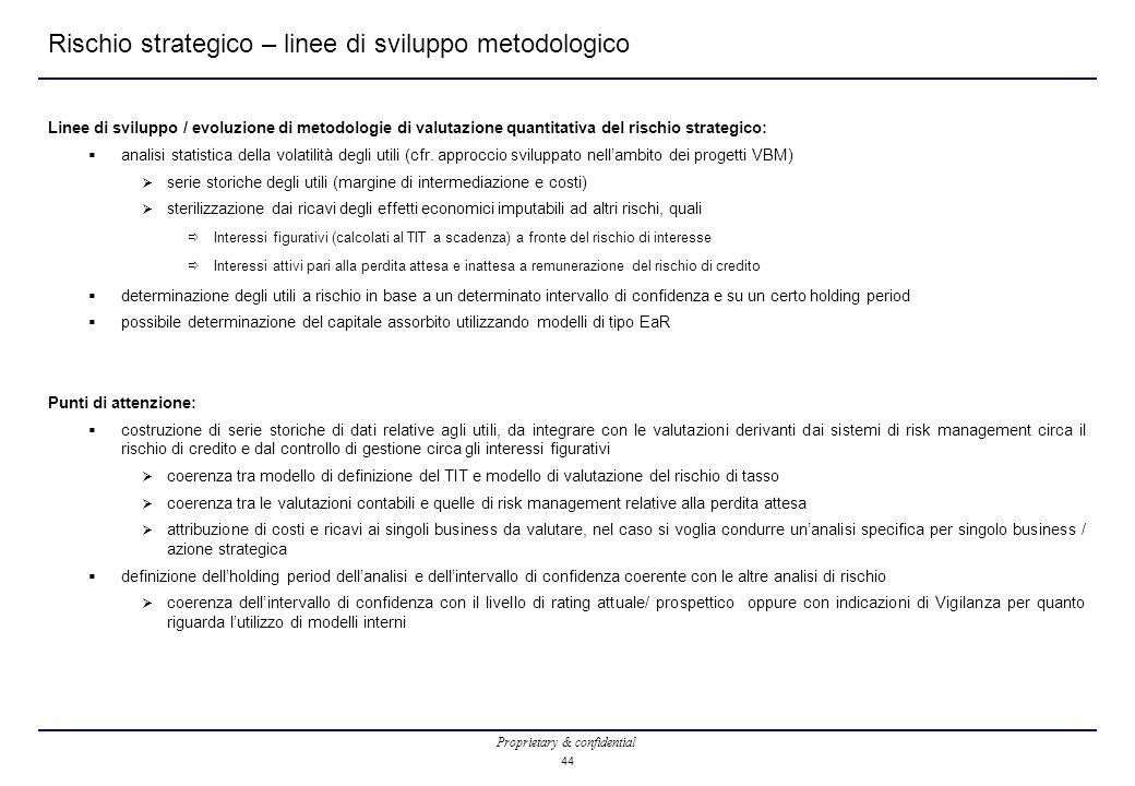 Rischio strategico – linee di sviluppo metodologico